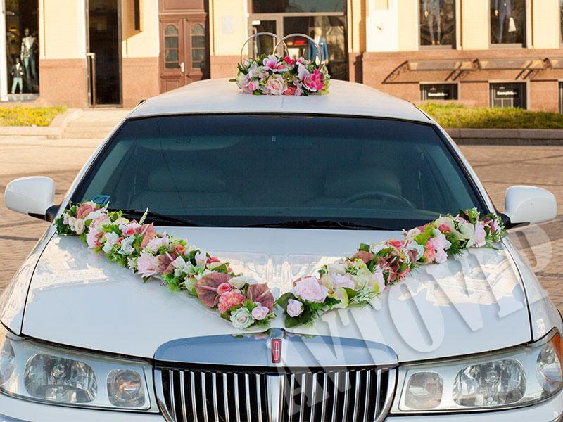 Аренда украшений на свадебную машину для свадьбы