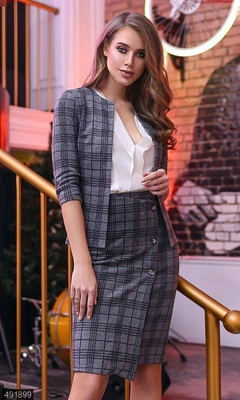 Шикарный костюм юбка пиджак кашемир с шерстю