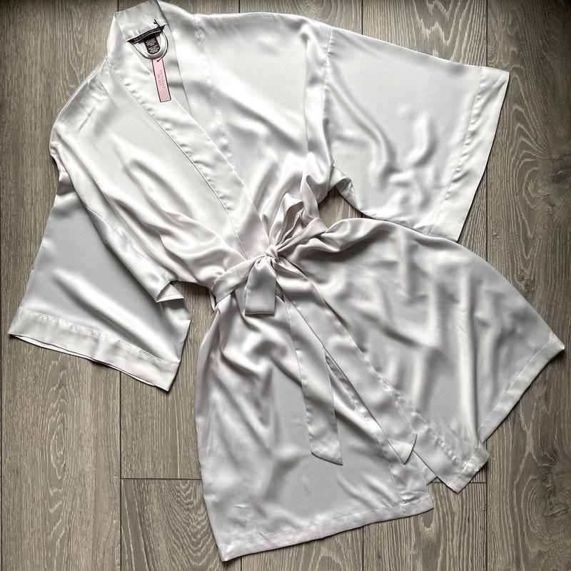Шелковистый халат кимоно xs/s victoria's secret
