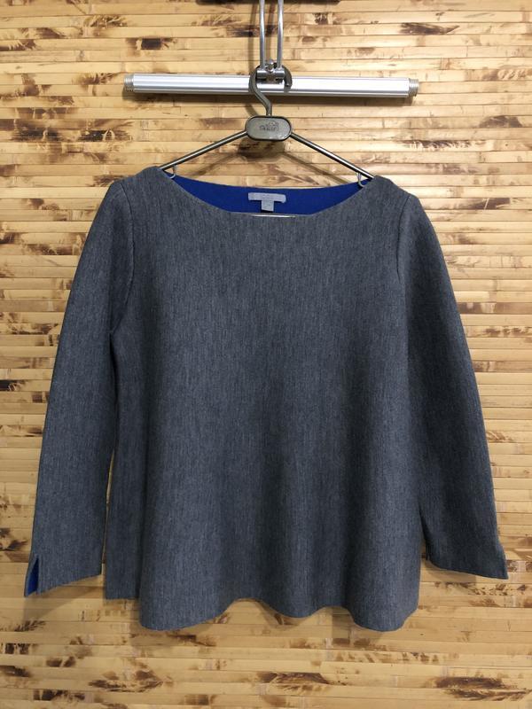 Модная красивая шерстяная кофта свитер пуловер cos серого цвета