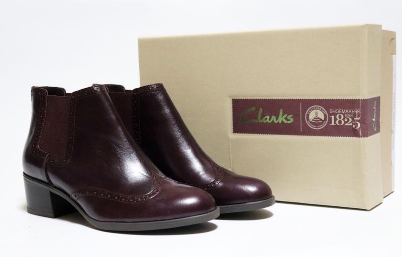 Ботинки челси clarks оригинал. натуральная кожа.