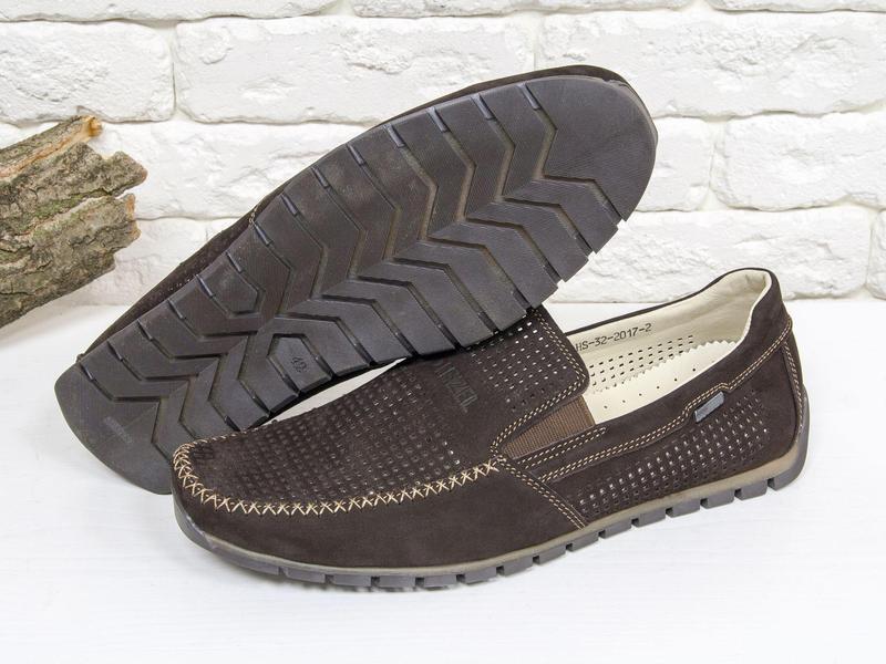 Летние мужские туфли мокасины - Фото 2