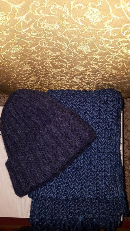 Шапка +шарф - Фото 2