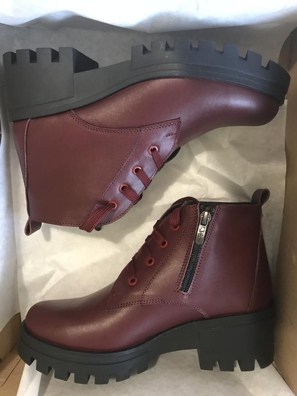 Ботинки бордовые 36-41