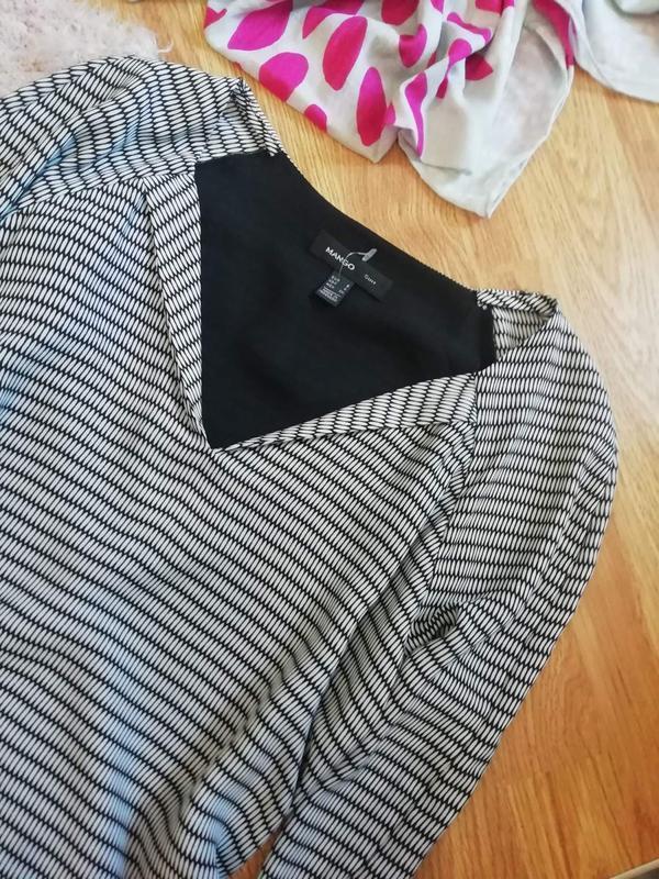 Женское супер стильное брендовое платье mango - размер 44 - Фото 5