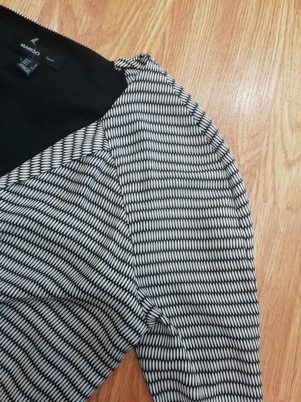 Женское супер стильное брендовое платье mango - размер 44 - Фото 7