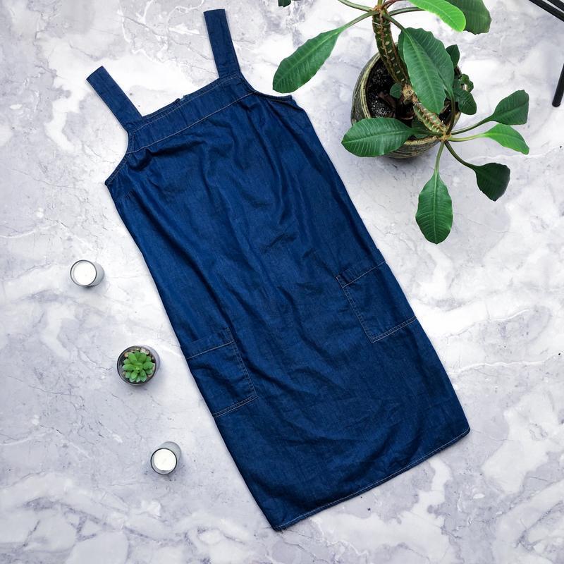 Стильный новый джинсовый сарафан dorothy perkins