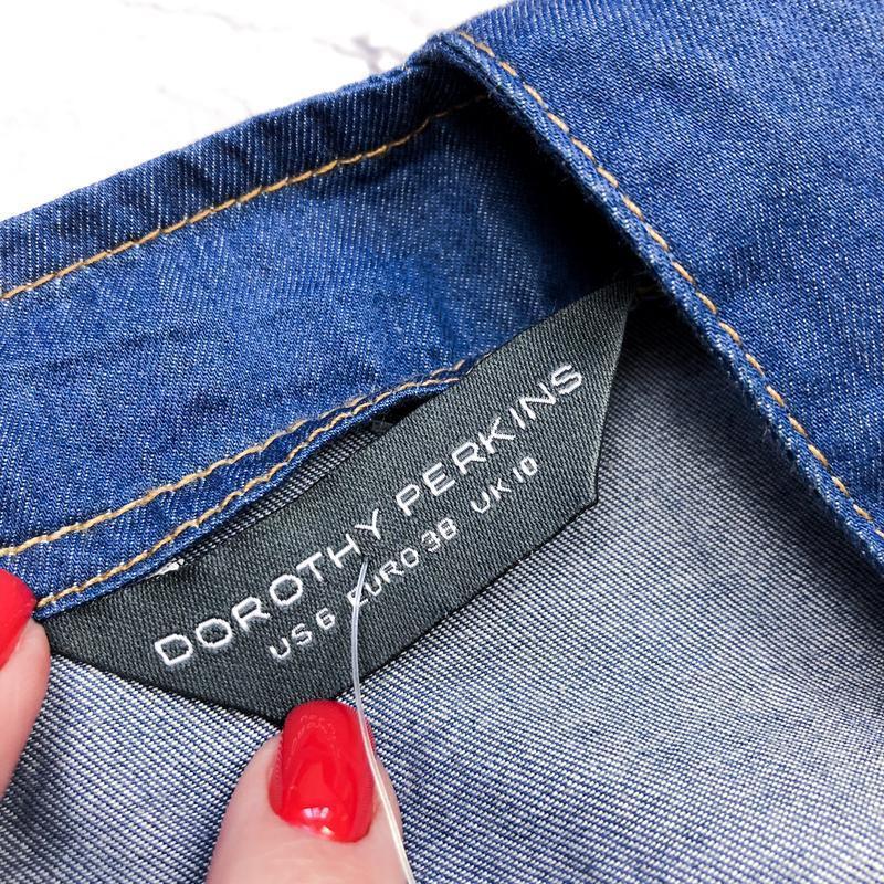 Стильный новый джинсовый сарафан dorothy perkins - Фото 5