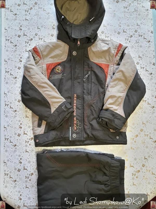 Комбинезон (куртка + штаны) на осень-весну (зима) на мальчика ... - Фото 8