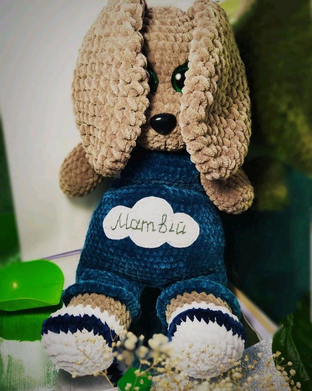 *Собачка Дружок*В'язані іграшки ручної роботи*