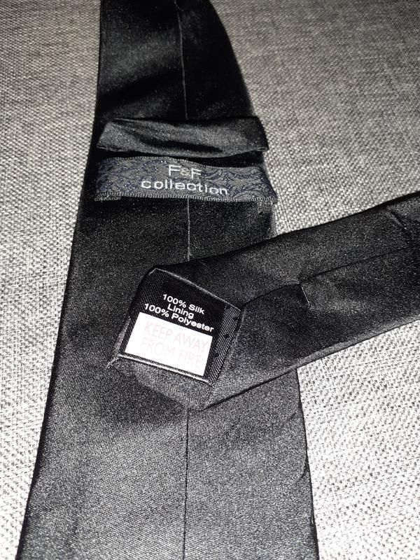 Черный шелковый галстук. 7см. - Фото 2