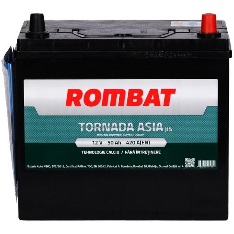 Аккумулятор автомобильный ROMBAT TORNADA Asia 50AH L+ 420A