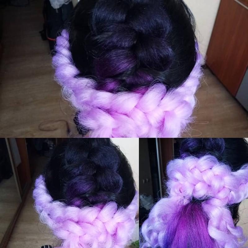 Плетение кос с канекалоном