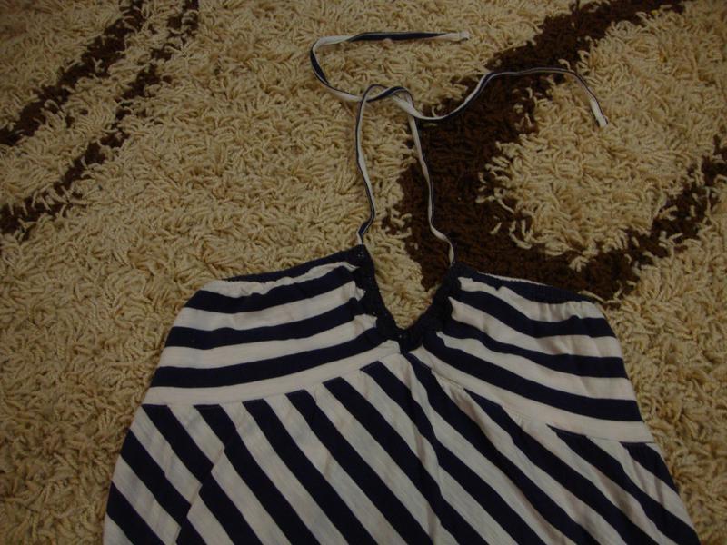 Летнее платье - сарафан next, морской стиль, в полоску - Фото 2