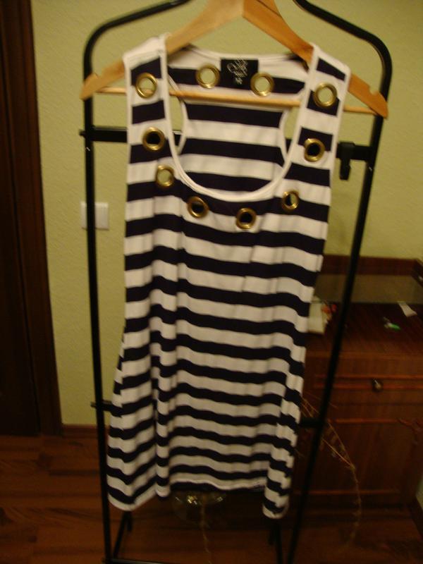 Летнее платье, морской стиль, в полоску amys paris