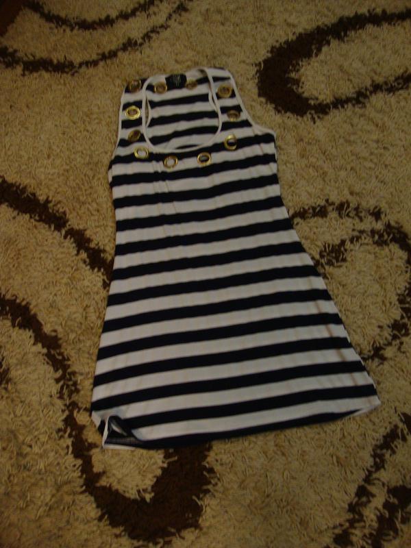 Летнее платье, морской стиль, в полоску amys paris - Фото 2