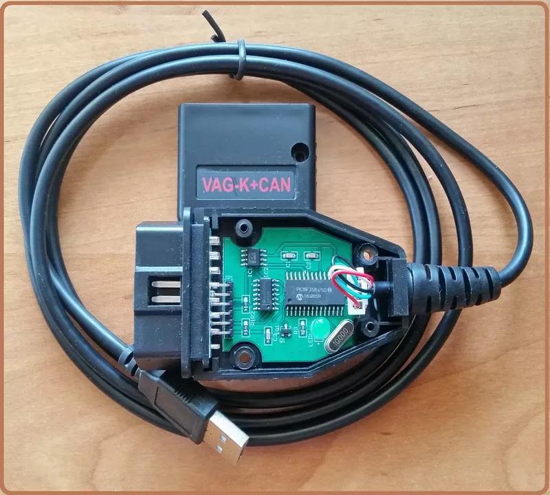 Диагностика VAG K+CAN Commander 1.4 (Одометр) OBD2 чип PIC18F258 - Фото 5