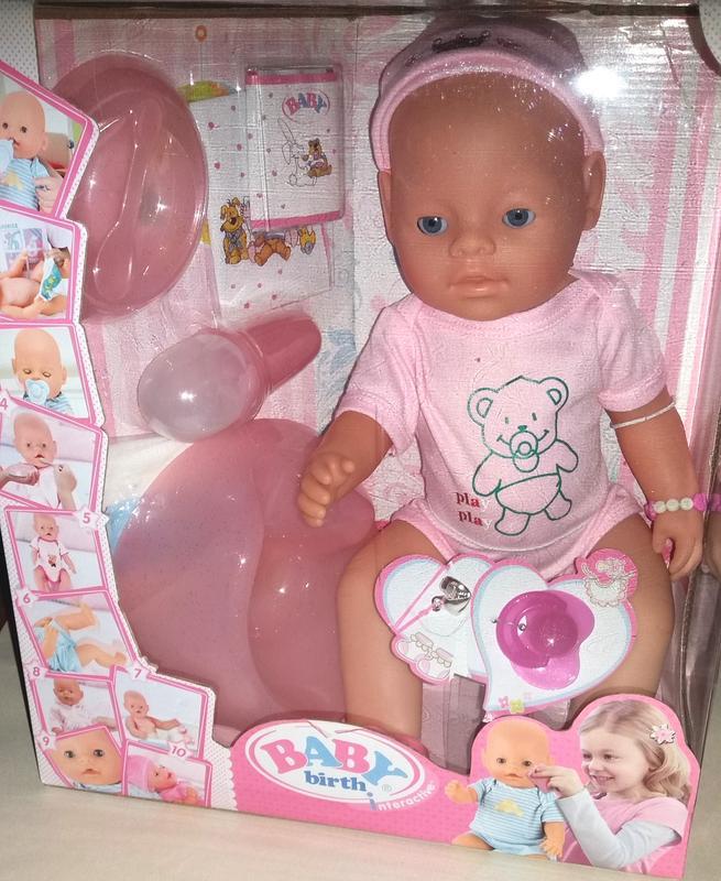 Кукла Пупс Baby Birth интерактивный, 9 функция и 10 аксессуаров - Фото 4