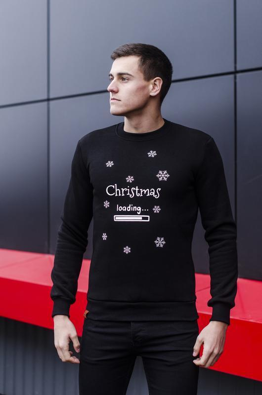 "Свитшот pobedov sweatshirts ""christmas"" black"