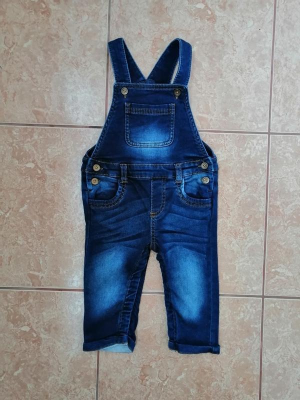 Стильный красивый джинсовый комбинезон модный комбез