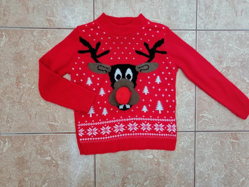 Стильный красивый новогодний свитер нарядный свитерок гольф го...