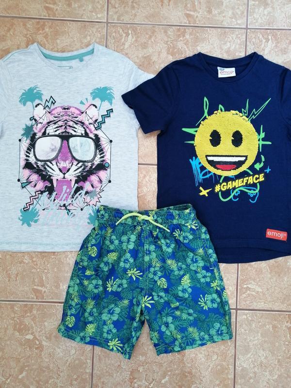 Стильный набор: модная футболка и пляжные шорты