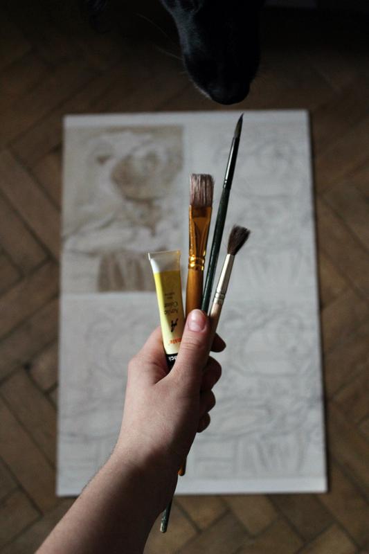 Научу рисовать маслом, гуашью