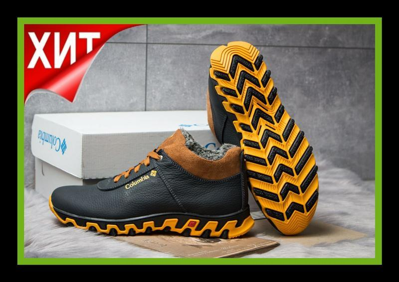 💣 мужские зимние ботинки коламбия columbia натуральная кожа