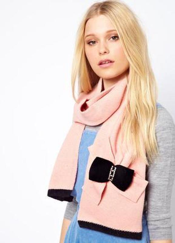 Alice hannah новый#брендовый#шерстяной#пудровый теплый шарф#ша...