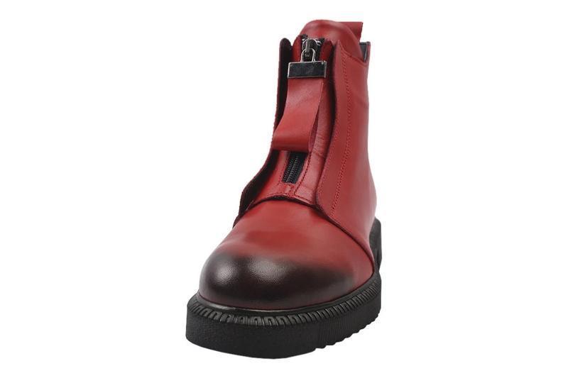 Ботинки на цигейке aquamarin натуральная кожа, зима 2020