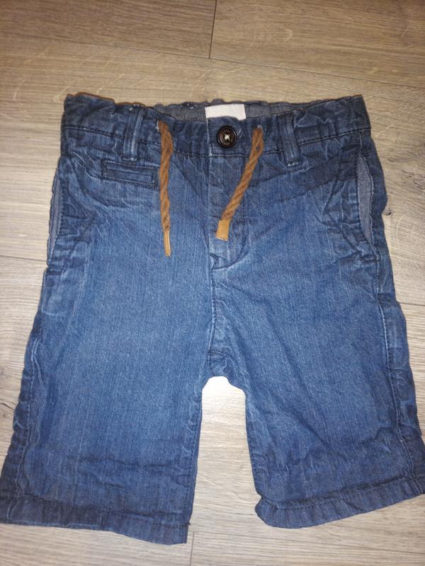 Шорти чіно zara розмір 3/4 104 джинс котон легкі