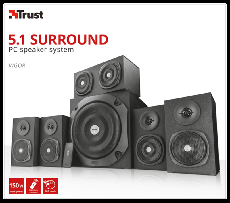 Колонки Trust Vigor 5.1 Surround Speaker System Black
