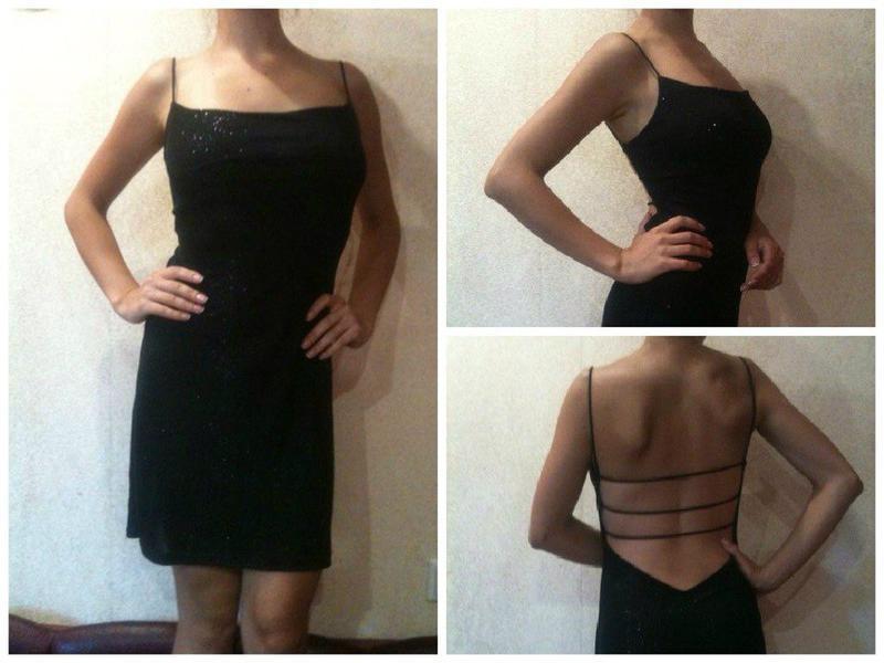 Шикарное платье с красивым вырезом на спине
