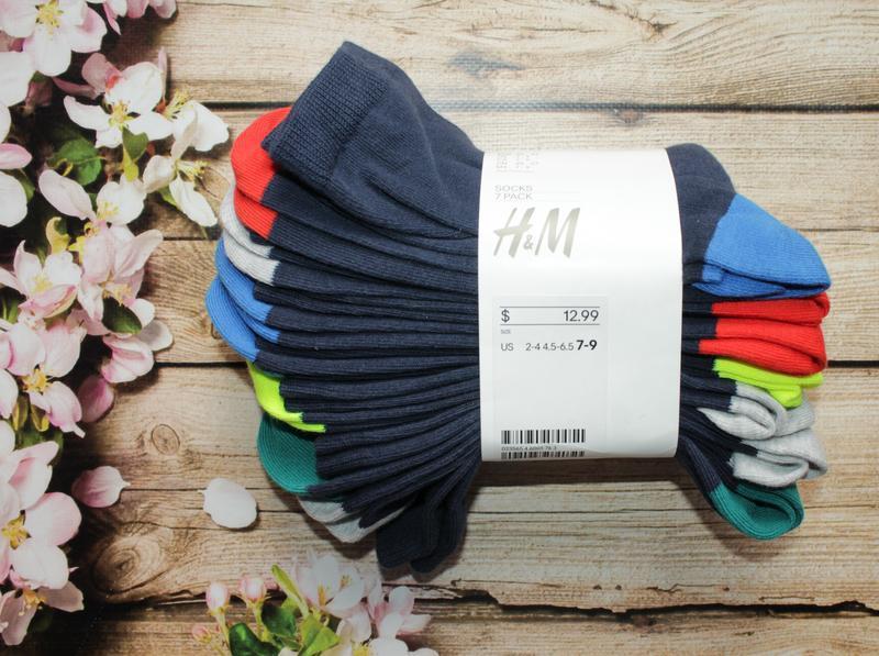 Набор носков, носочков h&m, 7 шт. размер 40-42