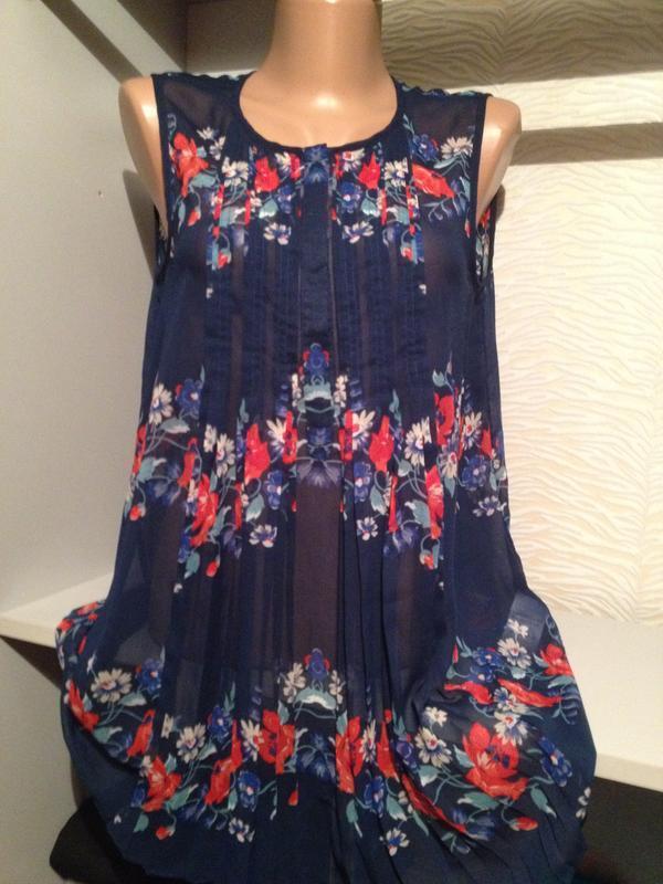 Оригинальная блузочка маечка с принтом.269