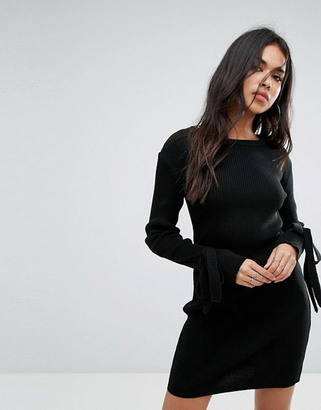 Платье в рубчик от boohoo миди