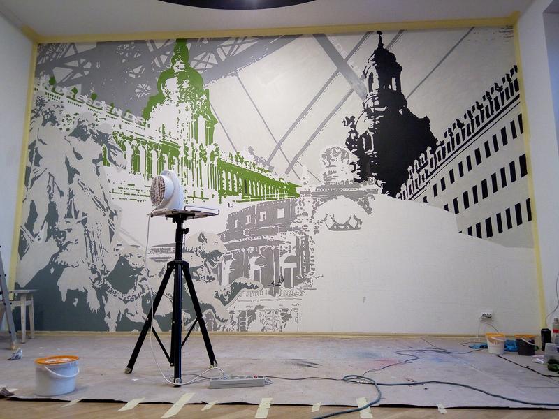 Роспись интерьера, Дрезден. - Фото 9