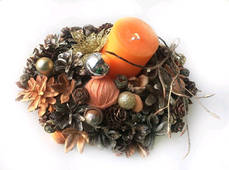 Рождественская композиция /Композиция новогодняя