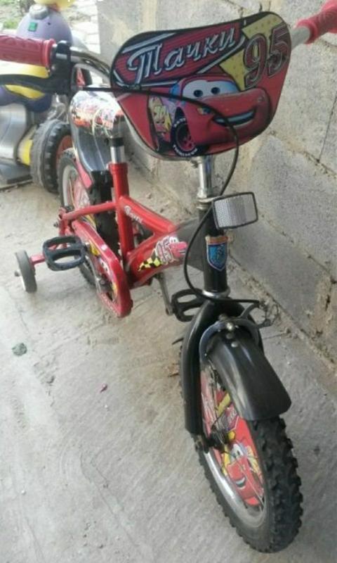Детский велосипед Mustang Тачки Молния Маквин 18 дюймов