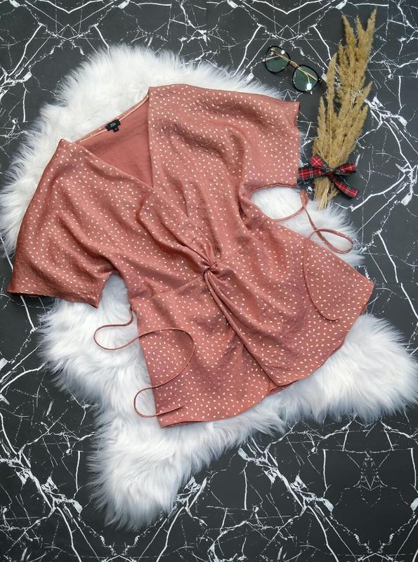 Нарядная блузка кимоно со жгутом от дорогого бренда river island
