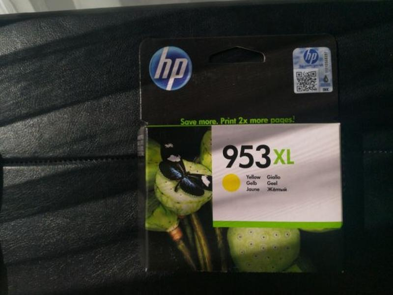 Картридж HP 953XL Officejet Pro желтый, yellow
