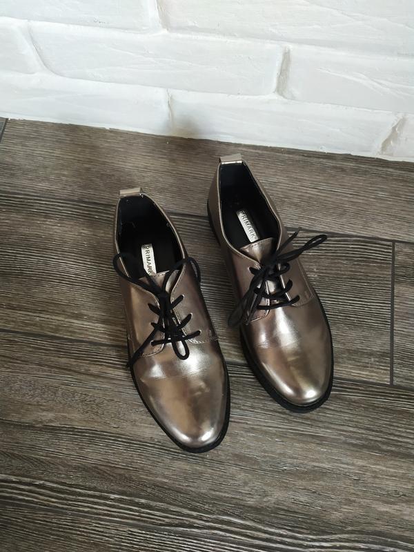 Стильные туфли лоферы броги на подошве