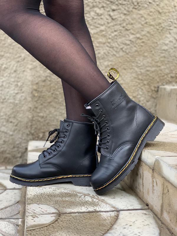 Dr.martens 1460 classic fur black мужские зимние ботинки марти...