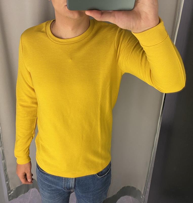 Желтый базовый реглан кофта лонгслив fishbone есть размеры