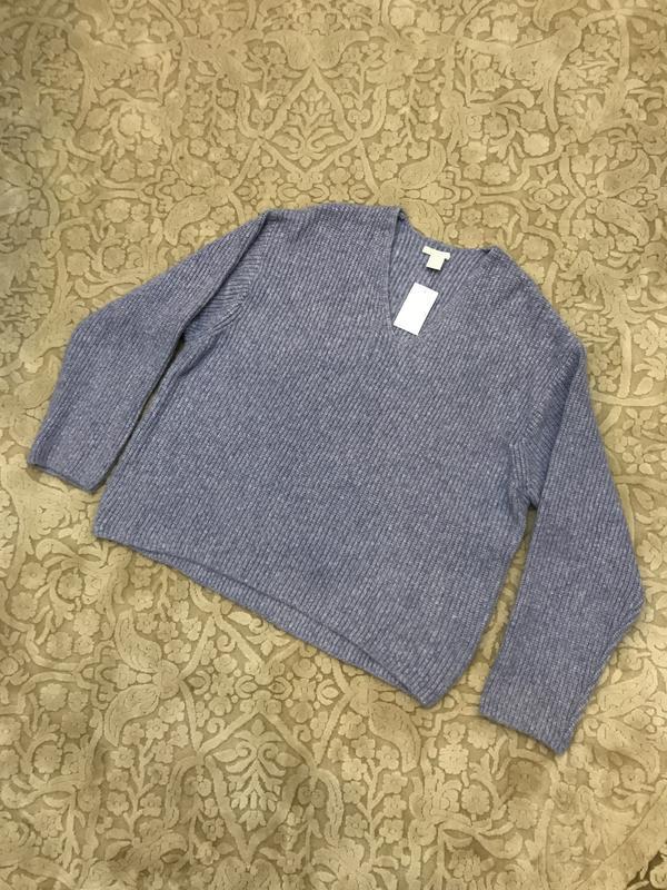 Очень мягкий джемпер пуловер грубой вязки  h&m