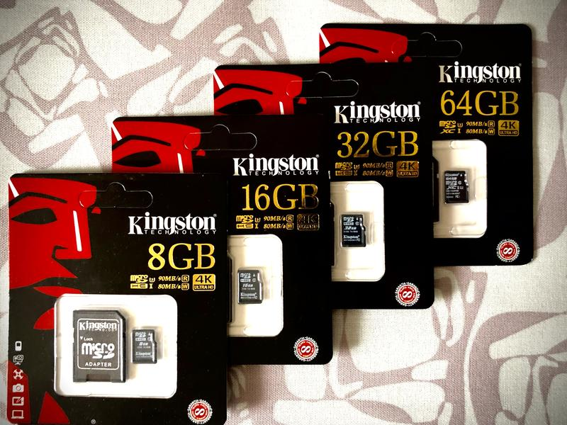 Карты памяти 8 16 32 64 128 256 Kingston  10 класс микро СД  4К - Фото 2