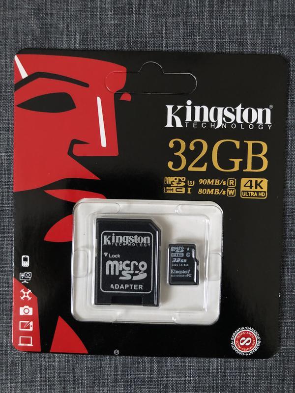 Карты памяти 8 16 32 64 128 256 Kingston  10 класс микро СД  4К - Фото 15