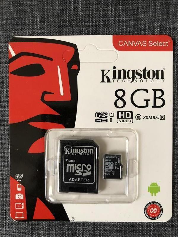 Карты памяти 8 16 32 64 128 256 Kingston  10 класс микро СД  4К - Фото 12