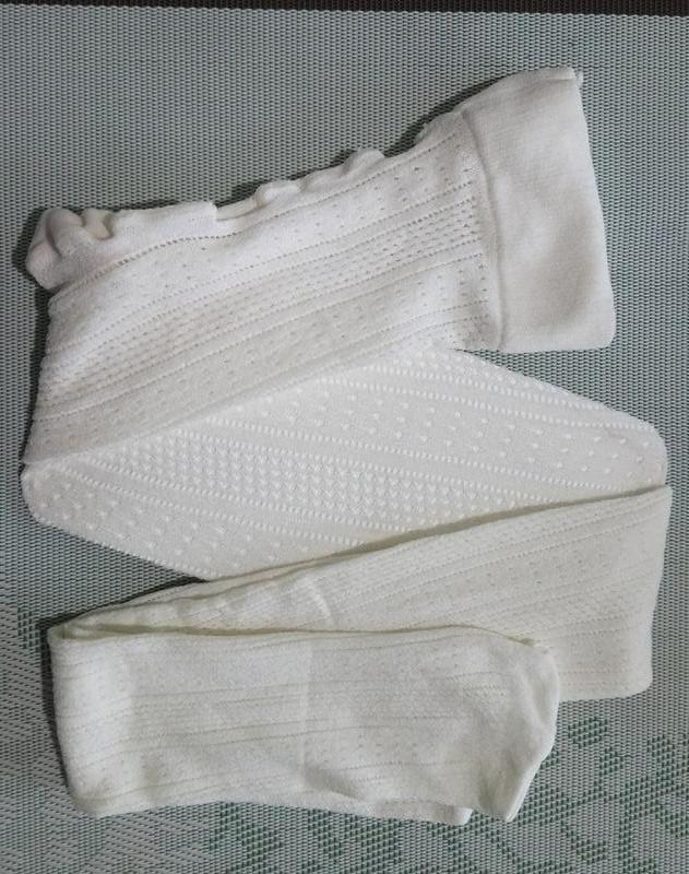 Белые ажурные колготки united colors of beneton сток италия на...