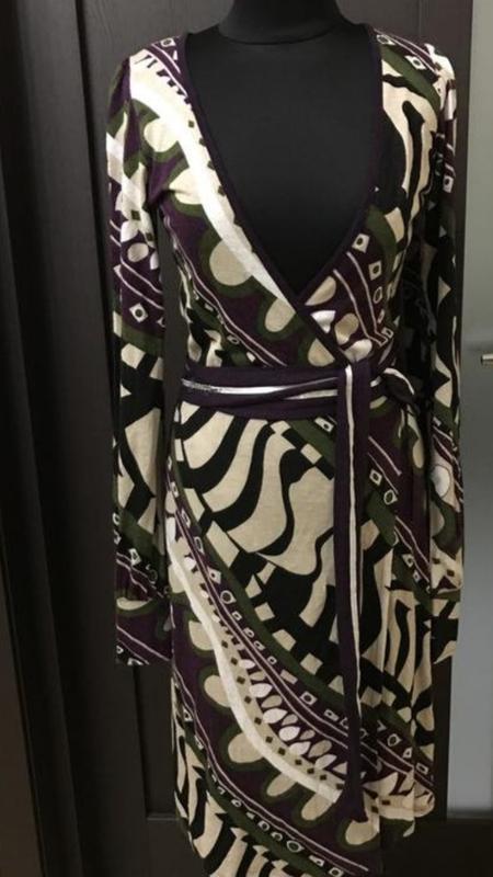 Шикарное платье на запах - Фото 6